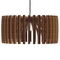 Wood Pendant Light – Modern Chandelier Lighting – Hanging Dining Lamp – Ceilin ...