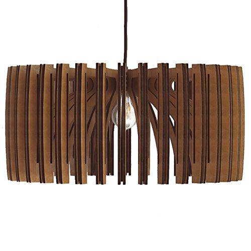 Wood Pendant Light – Modern Chandelier Lighting – Hanging Dining Lamp – Ceilin ...