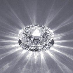 Modern Crystal LED Ceiling Light Flush Mount 3W Chandelier Lamp Living Room Hall