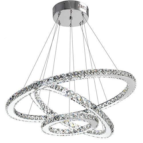 Modern 3 Tier Led Ring Chandelier Pendant Lamp Ceiling: Modern Crystal Chandelier Lighting Ceiling Dining Room