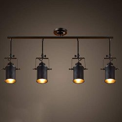 Industrial Vintage Long Pole Spotlight E27 Ceiling Lamp Clothing Store Track Lamp American Retro ...