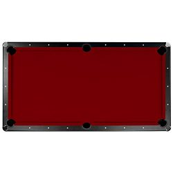 Championship Saturn II Billiards Cloth Pool Table Felt , Burgundy, 8-Feet