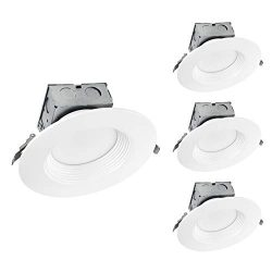 OSTWIN (4 Pack) 6 Inch LED Recessed Lighting Junction Box Dimmable Round LED Recessed Downlight  ...
