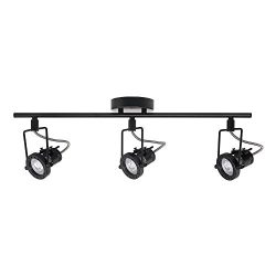 Hampton Bay 1.975 ft. 3-Light Black LED Track Lighting Kit