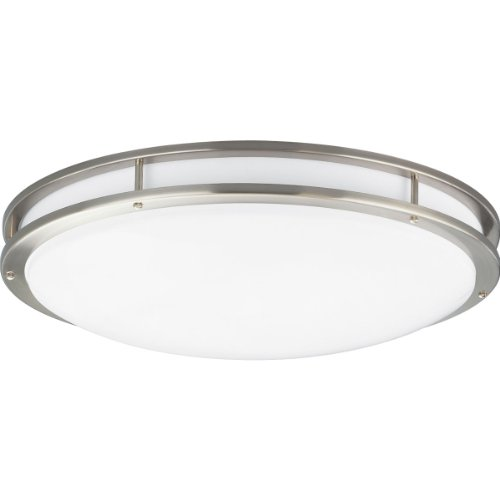 Progress Lighting P7252-09EBWB 3-Light Energy Star Flush Mount, Brushed Nickel