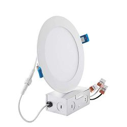 Drart 6″ Ultra-Thin Recessed Lighting Low Profile Slim Panel Downlight with Junction Box,  ...