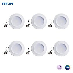 "Philips 802389 LED myLiving Dimmable 5""/6"" Downlight Recessed Lighting Fixture: 660-Lumens, 2200 ..."