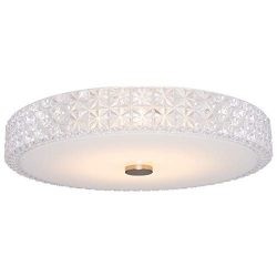 Kira Home Maxine 15″ Modern Flush Mount Ceiling Light, 18W Integrated LED (60W eq.), Clear ...