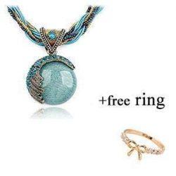 DOINSHOP 2019 New Hot Fashion Bohemian Jewelry Statement Necklaces Women Rhinestone Gem Pendant  ...