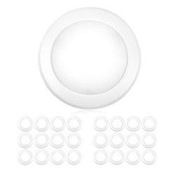 "Parmida (24 Pack) 5/6"" Dimmable LED Disk Light Flush Mount Recessed Retrofit Ceiling Lights, 15W ..."