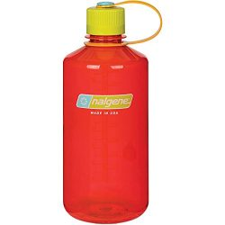 Nalgene Tritan 32 oz Narrow Mouth BPA-Free Water Bottle, Pomegranate