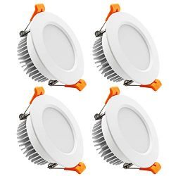 YGS-Tech 3.5 Inch LED Recessed Lighting Dimmable Downlight, 7W(55W Halogen Equivalent), 4000K Na ...