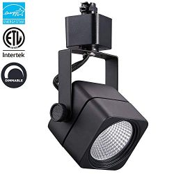 LED Track Lighting Head Black, CRI90+ 8W(=60W) 600LM Compatible with H Type Track | Energy Star  ...
