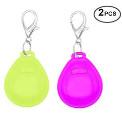 Higo LED Dog Tag, Light Up Blinking Pet Pendent, Glow in The Dark Dog Safety Lights for Night Do ...