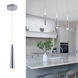 Modern Mini Island Pendant Light with Acrylic Shade LED Adjustable Cone Contemporary Pendant Lig ...