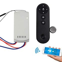 Ceiling Fan Remote Control Kit, Womdee Wi-Fi Ceiling Fan Controller With Voice Remote, App Remot ...