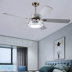 Andersonlight Fan 48″ LED Indoor Stainless Steel Ceiling Fan with Light and Remote Control