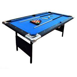 Hathaway Fairmont Portable 6-Ft Pool Table for Families with Easy Folding for Storage, Includes  ...