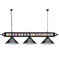 59″ Hanging Billiard Light for 7ft/8ft/9ft Pool Tables – (Several Colors Lamp Shades ...