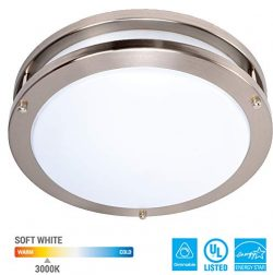 KOR 12-Inch LED Ceiling Light Fixture – 15W, 1050lm, 3000K (Soft White Color) Dimmable Lig ...