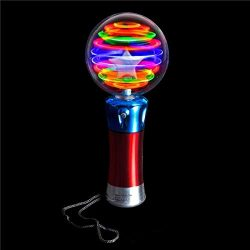 Rhode Island Novelty LED Spinning Light Party Disco Wand | One Wand