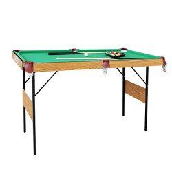 IFOYO Billiard Table, 55 Inch Folding Pool Table Steady Pool Game Table Modern Space Saving Bill ...