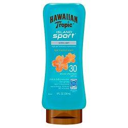Hawaiian Tropic Island Sport Ultra Light High Performance Suncreen Lotion, Light Tropical Scent  ...