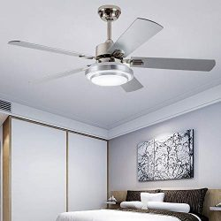 Andersonlight Fan 52″ LED Indoor Stainless Steel Ceiling Fan with Light and Remote Control
