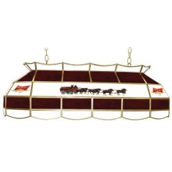 """Budweiser """"Clydesdales"""" Tiffany Gameroom Lamp, 40″"""