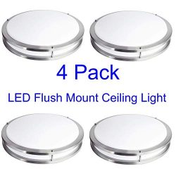 FulBrite 14-inch Ceiling Light Fixture LED Flush Mount, Dimmable, Round 15 Wattage, 3000K Warm W ...