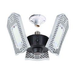 LED Garage Lighting, Upgrade 80W Motion Activated LED Garage Lights, Best LED Garage Ceiling Lig ...