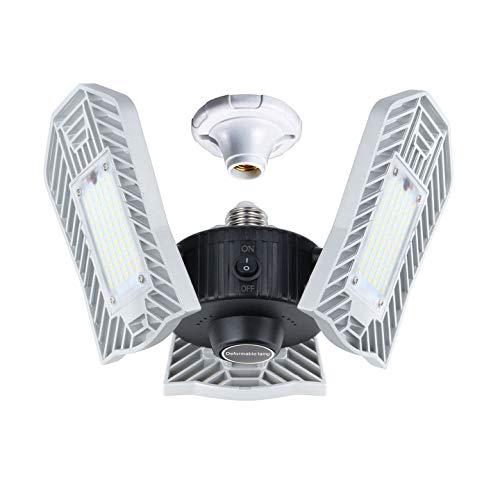 Best Led Garage Ceiling Lights: LED Garage Lighting, Upgrade 80W Motion Activated LED