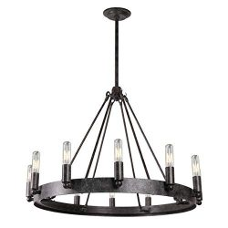 7Pandas 12-Light Indoor Retro Chandeliers E12, Antique Pendant Lighting, for Living Room Dining  ...