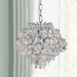 Modern Pendant Chandelier Crystal Raindrop Lighting Ceiling Light Fixture Lamp for Dining Room B ...