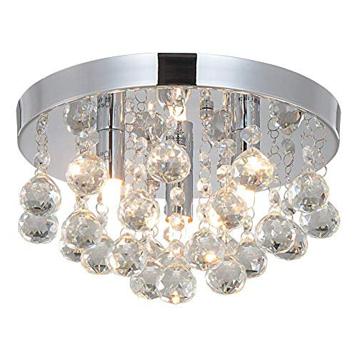 Crystal Chandeliers Lighting Sold By RH RUIVAST, Flush Mount Ceiling Light 3G9 Lights Fixture, H ...