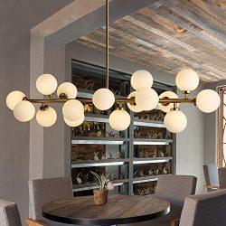 Fandian Post-Modern Chandelier 16 Round Glasses LED Ceiling Light Pendant, DNA Shape with G4 LED ...