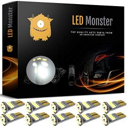 LED Monster 10pcs T10 Wedge Best Value Super Bright High Power 3014 15-SMD 194 168 2825 W5W Whit ...