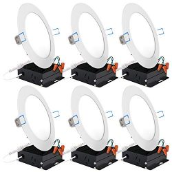 Sunco Lighting 6 Pack 6 Inch Slim LED Downlight with Junction Box, 14W=100W, 850 LM, Dimmable, 5 ...