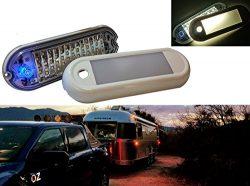 OZ-USA 7″ LED Dome Light Dimmer Fixture Marine RV Motorhome Camper Utility Van 12v 24v Sem ...