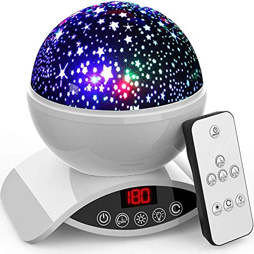 Pool Table Light Projector: Amouhom Night Light Baby Star Projector, 8 Color Rotation