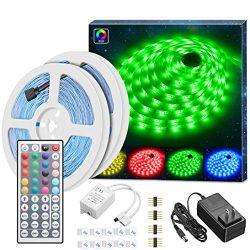 LED Strip Lights Kit, Govee Non-waterproof 2x5m(32.8Ft in Total) 5050 RGB 300led Strips Lighting ...