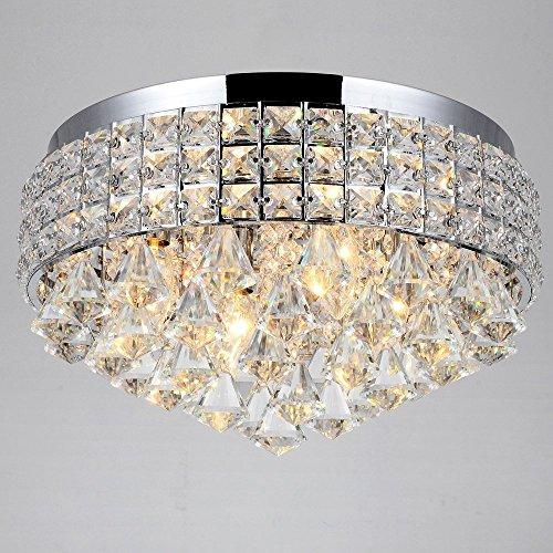4 Lights Crystal Flush Mount Ceiling Lighting Fixture For