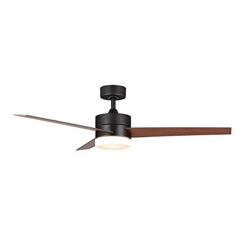 "CO-Z 52"" Ceiling Fan Light Old Bronze Finish with 3 Fan Blades, Include 15W LED and Remote Contr ..."