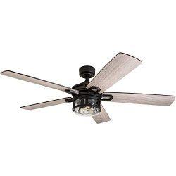 Honeywell Ceiling Fans 50690-01 Bontera, 52 inches, Matte Black