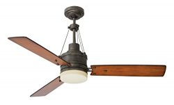 Emerson CF205LVS Highpointe 54-inch Modern Ceiling Fan, 3-Blade Ceiling Fan with LED Lighting an ...