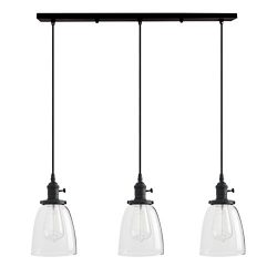 Permo Vintage Rustic Industrial 3-Lights Kitchen Island Chandelier Triple 3 Heads Pendant Hangin ...