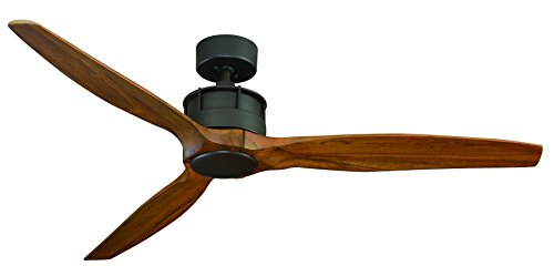 Royal Pacific Lighting 1073OB Torque 3 Modern Ceiling Fan with Wood Blades and Remote Control, 5 ...