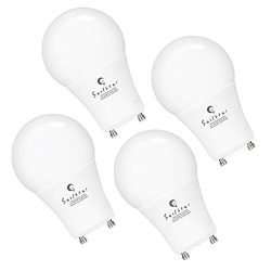A19 Light Bulbs GU24 Base,72w Equivalent, 9W LED Daylight 5000K, Non-dimmable Lamps, 270° Omni-D ...
