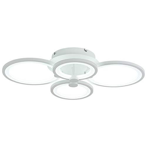 Modern Chandelier Dimmable LED Flush Mount Ceiling Light for Living Room Bedroom 4000lm 50W, 600 ...