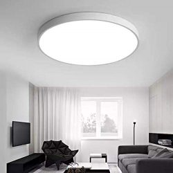 Flush Mount Ceiling Light – 28W LED Matte White Daylight Ultra Thin 5CM Environmental-Frie ...